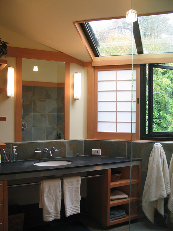 Custom japanese bath remodel seattle sortun vos architects for Bathroom remodel seattle