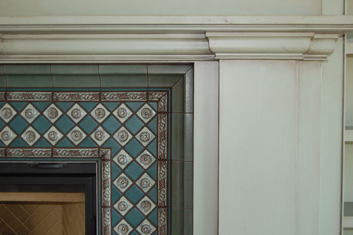 Main floor fireplace detail